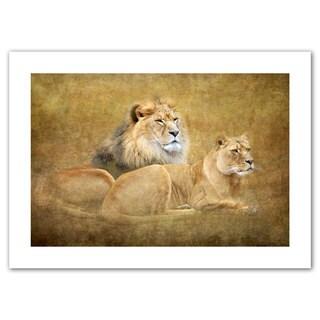 Antonio Raggio 'Lions' Unwrapped Canvas - Multi
