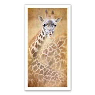 Antonio Raggio 'Giraffe' Unwrapped Canvas - multi
