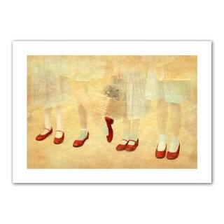 Antonio Raggio 'Ruby Slippers' Unwrapped Canvas - Multi