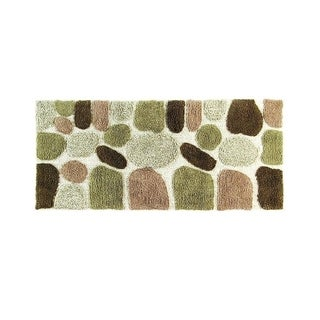 Rockway Pebbles Cotton 24 x 60 Bath Runner with BONUS step out mat