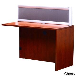 Boss Plexiglass 36-inch Reversible Reception Return (Option: Cherry - Cherry Finish)