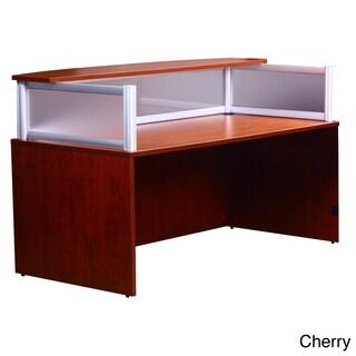 Boss Plexiglass Reception Desk (Option: Cherry - Cherry Finish)