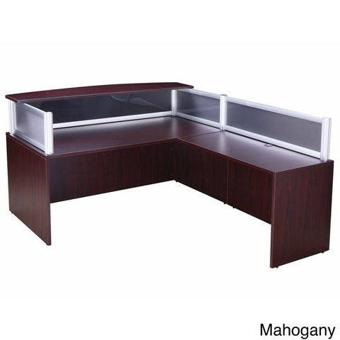 Boss Plexiglass Reception Desk and 36-inch Return
