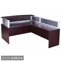 Boss Plexiglass Reception Desk And 36 Inch Return