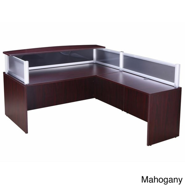 boss plexiglass reception desk and 36 inch return boss office products plexiglass reception