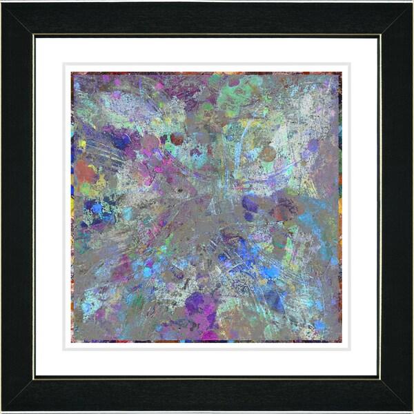 Studio Works Modern 'Blue Nova' Framed Print
