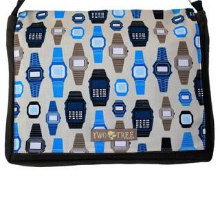 Handmade Medium Brown Retro Watch Messenger Bag
