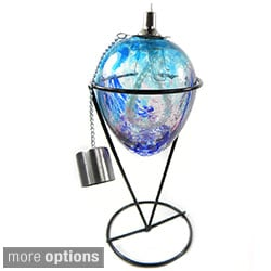 Table Top Oil Lantern with Stand