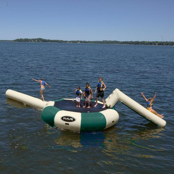 RAVE Sports Bongo 13' Northwood's Water Bouncer with Small Slide and Log