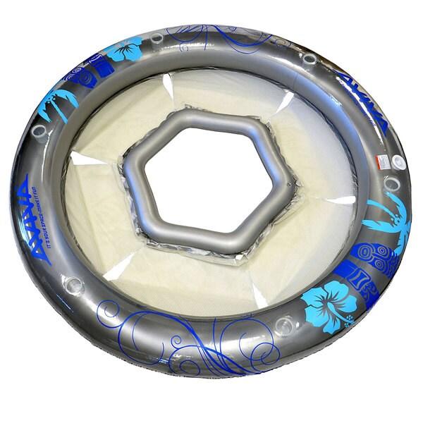 Aviva by RAVE Sports Social Circle 6 Person Island Pool/Lake Float