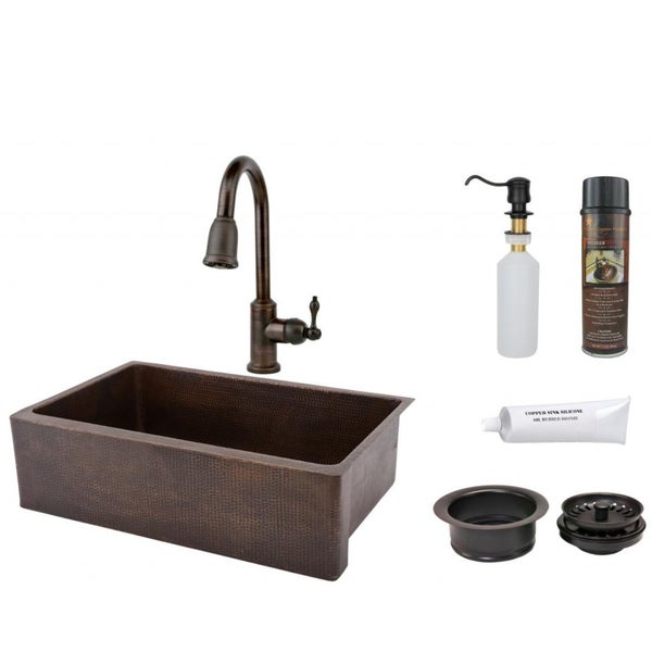 Premier Copper Products Pull Down Faucet Package With Retractable Hose Free Shipping Today