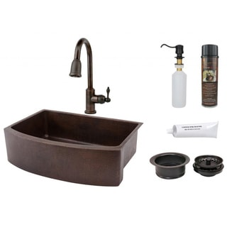 premier copper products pull down lead free faucet package - Kitchen Sink And Faucet Sets