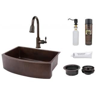 Premier Copper Products Pull-Down Lead-Free Faucet Package|https://ak1.ostkcdn.com/images/products/7954840/P15327534.jpg?impolicy=medium