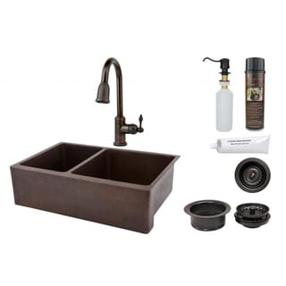 Premier Copper Products Pull-Down Solid Brass Faucet Package