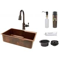 Premier Copper Products Sink with Pull Down Faucet Package