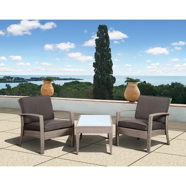 Atlantic Mykonos Grey Deluxe 3 Piece Balcony Set