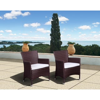 Atlantic Liberty Brown Wicker Deluxe Side Chairs (Set of 2)