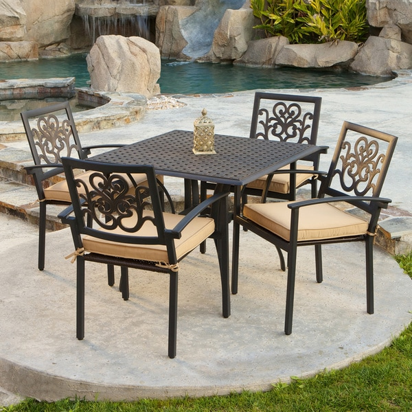 RST Brands Delano 5 Piece Cast Aluminum Patio Cafe Set