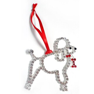 Buddy G's Austrian Crystal Poodle Ornament