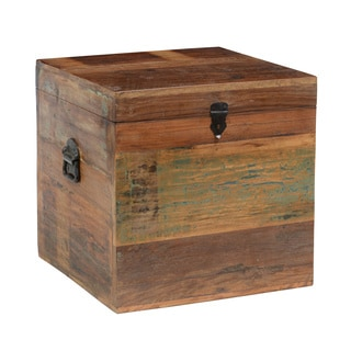 Bali 18-inch Reclaimed Wood Square Box by Kosas Home
