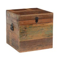 Pine Canopy Pike 18-inch Reclaimed Wood Square Box