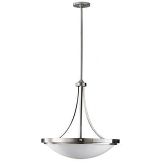 Perry Brushed Steel Uplight Chandelier