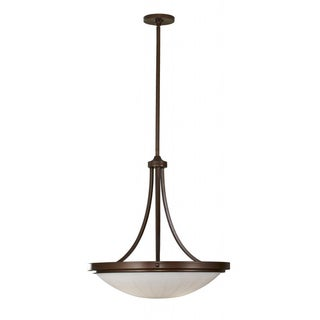 Perry Three-Light Heritage Bronze Chandelier