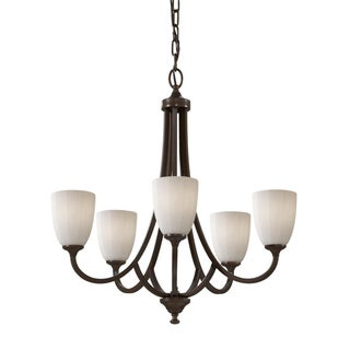 Perry Five-Light Heritage Bronze Chandelier