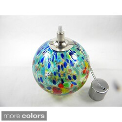 Orb Table Top Glass Oil Lantern