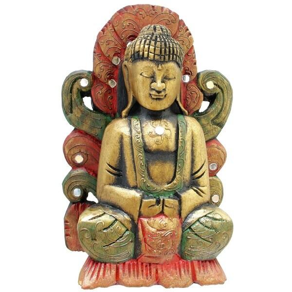 Handmade Singa Sana Buddha Statue (Indonesia)