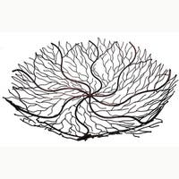 "Handmade 18-Inch Copper Wire Brush Bowl (Indonesia) - 18"" x 18"""