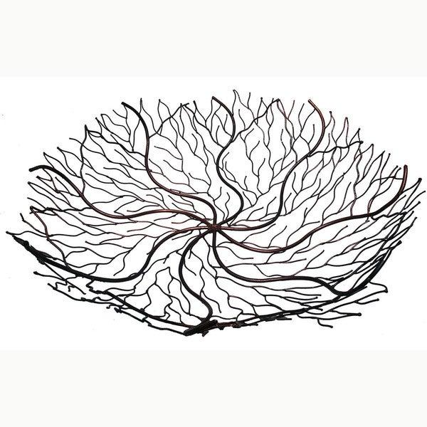"""Handmade 24"""" Copper Wire Decorative Bowl (Indonesia)"""