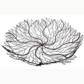 Handmade 24-Inch Copper Wire Decorative Bowl (Indonesia)