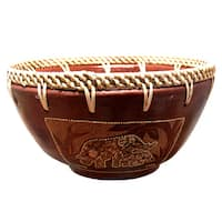 "Handmade Eggshell Elephant Bowl (Indonesia) - 7"" x 7 """