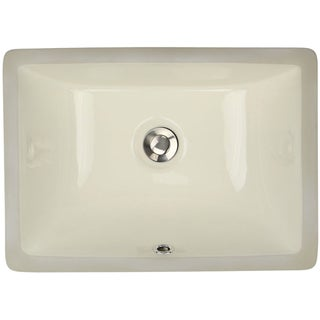 Highpoint Collection 16 x 11-inch Rectangle Undermount Bathroom Sink