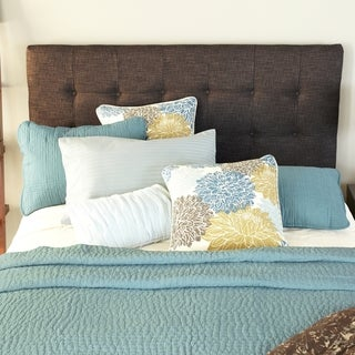 Humble + Haute Stratton Chocolate Queen Upholstered Headboard