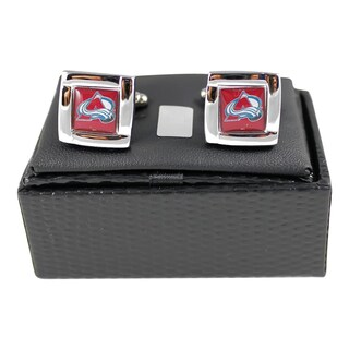 NHL 5/8-inch Square Cufflinks with Square Shape Logo Design Gift Box Set (2 options available)