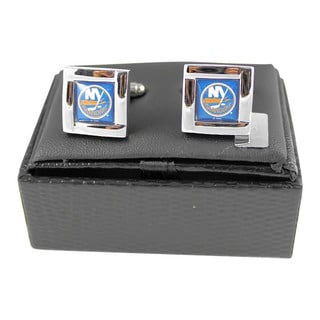 Aminco International NHL Square Cufflinks Square Shape Engraved Logo Gift Box Set