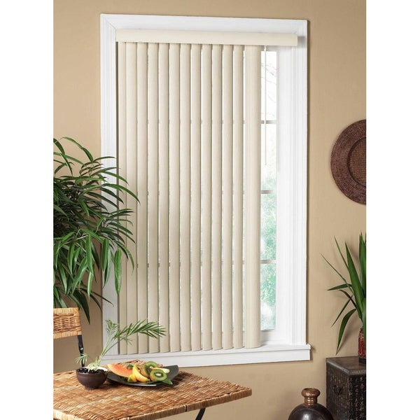 Shop Vertical Alabaster Textured Window Blind Free