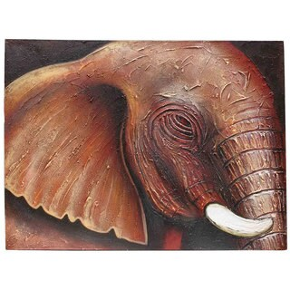 Elephant Eye' Original Canvas Painting, Handmade in Indonesia