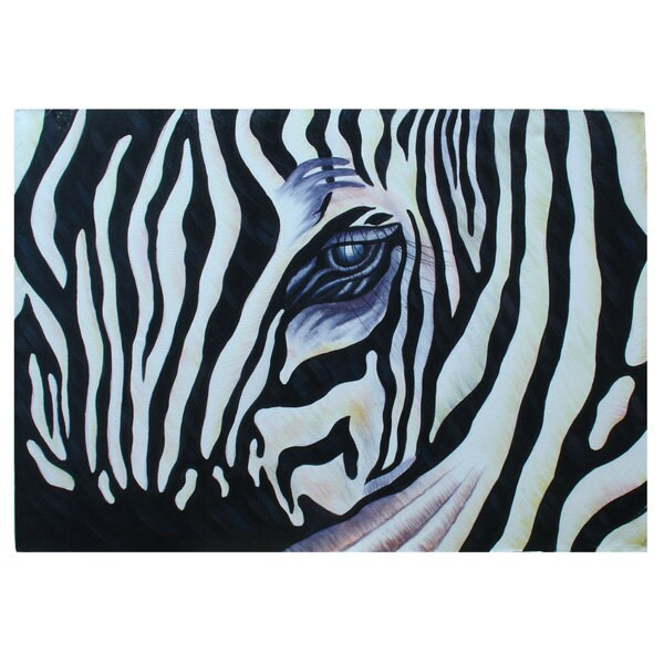 'Zebra Eye' Original Large Canvas Painting (Indonesia)