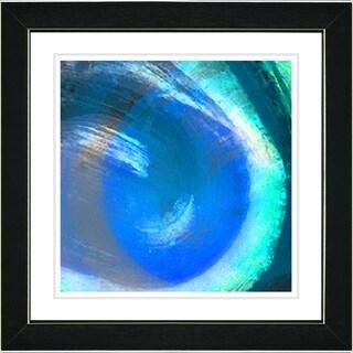 Studio Works Modern 'Blue Crush' Framed Print