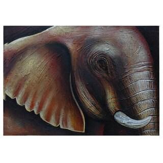 'Elephant Eye' Large Original Canvas Painting (Indonesia)