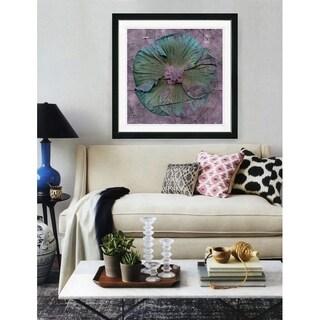 Studio Works Modern 'Turquoise Mudflower' Framed Fine Art Giclee Print