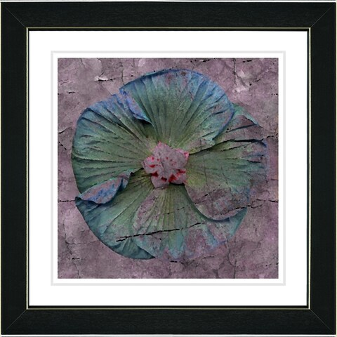 Studio Works Modern 'Turquoise Mudflower' Framed Fine Art Giclee Print
