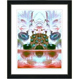 Studio Works Modern 'Orange Cut Crystal Fruit' Framed Print