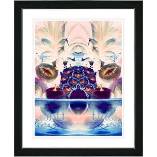 Studio Works Modern 'Blue Cut Crystal Fruit' Framed Print