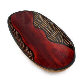 Handmade Zebra Oval Bowl (Indonesia)