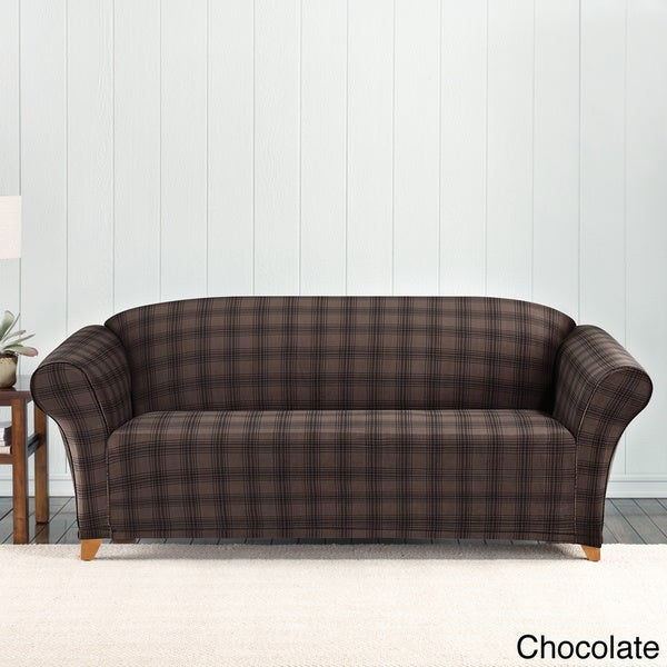 Hurry Up For Your Best Cheap Sofas On Sale: Shop Sure Fit Stretch Belmont Plaid Sofa Slipcover