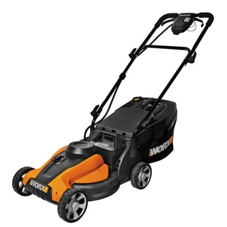 "Worx 14"" Cordless Electric-Powered Push Lawn Mower with IntelliCut"